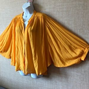 Maeve Anthropologie marigold blouse